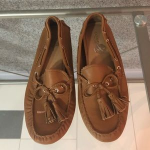 Coach Tan Leather Loafers, size 6.5